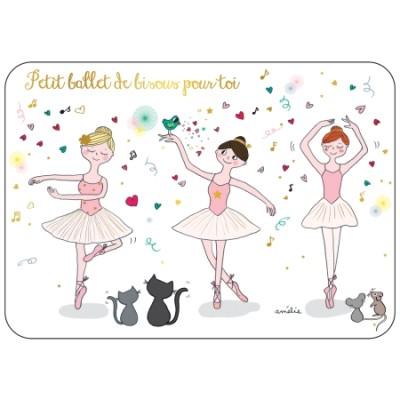 CARTE POSTALE COIN ROND BALLET - CARTES D'ART