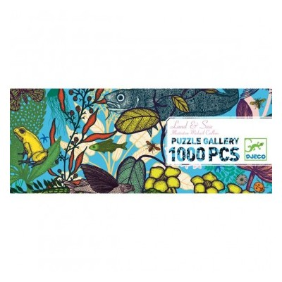 PUZZLE GALLERY -LAND AND SEA - 1000 PCS - DJECO