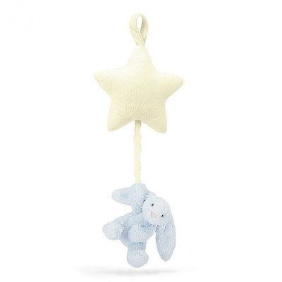 BASHFUL BLUE BUNNY STAR MUSICAL PULL - JELLYCAT