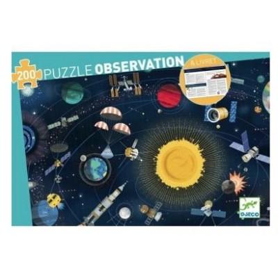 PUZZLE -L'ESPACE - 200 PCS + LIVRET - DJECO