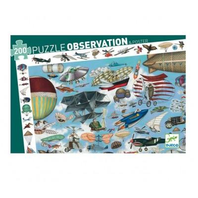 PUZZLE OBSERVATION AERO CLUB - 200 PCS- DJECO