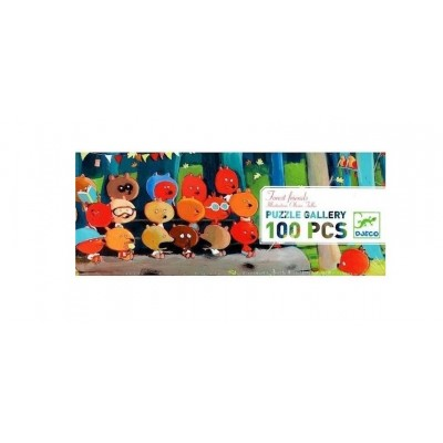 PUZZLE GALLERY FOREST FRIENDS - 100 PCS - DJECO
