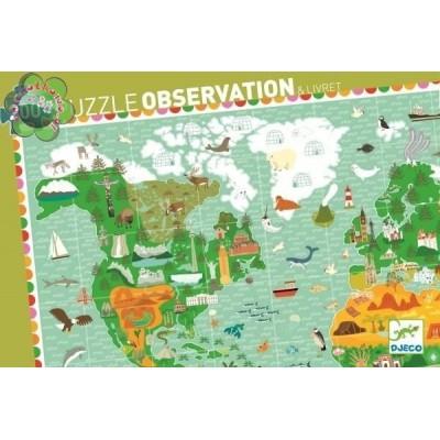 PUZZLE -TOUR DU MONDE - 200 PCS + LIVRET