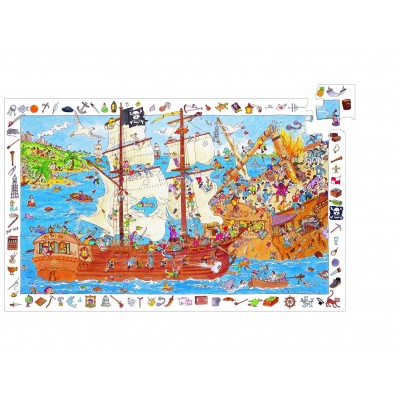 PUZZLE LES PIRATES - 100 PCS- DJECO