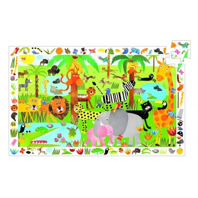 PUZZLE OBSERVATION JUNGLE - 35 PCS- DJECO