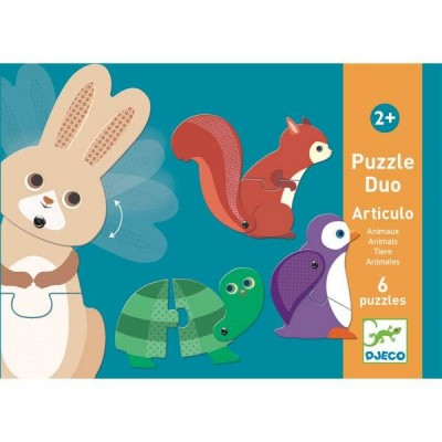 PUZZLE DUO ARTICULO ANIMAUX - DJECO
