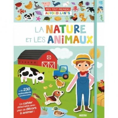 MES TOUT PREMIERS AUTOCOLLANTS - LA NATURE ET LES ANIMAUX...