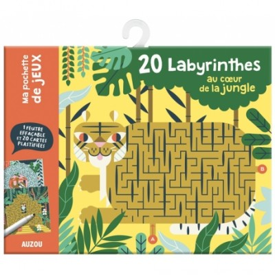 20 LABYRINTHES AU COEUR DE LA JUNGLE - AUZOU CREATIF