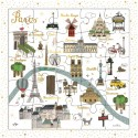 CARTE PUZZLE PLAN DE PARIS...
