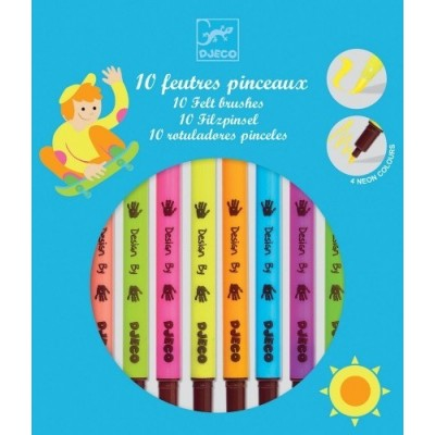 10 FEUTRES PINCEAUX - POP