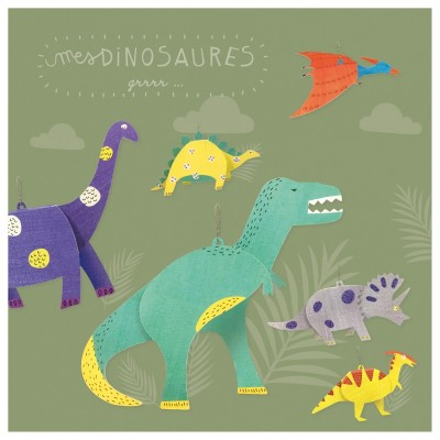 MES DINOSAURES A CREER - PIROUETTE CACAHOUETE