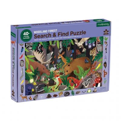 PUZZLE CHERCHE ET TROUVE 64 PCS -FORET - MUDPUPPY