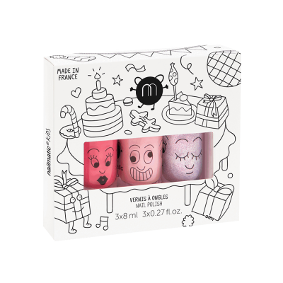 COFFRET 3 VERNIS COOKIE - BELLA - ELLIOT - NAILMATIC