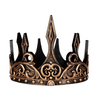 COURONNE DE ROI LUXE LATEX OR/NOIR - GREAT PRETENDERS