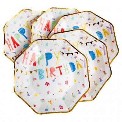 PETITES ASSIETTES HAPPY BIRTHDAY  PAR 8 - GREAT PRETENDERS